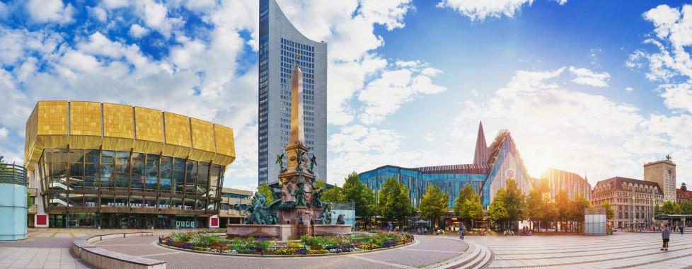 Der Augustusplatz im Stadtzentrum