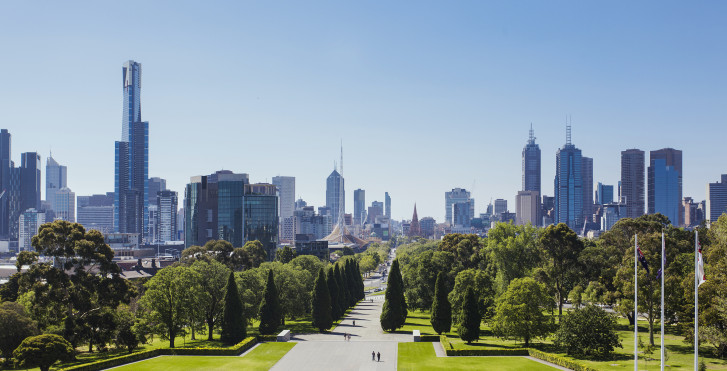 Skyline, Shrine of Remembrance, Melbourne