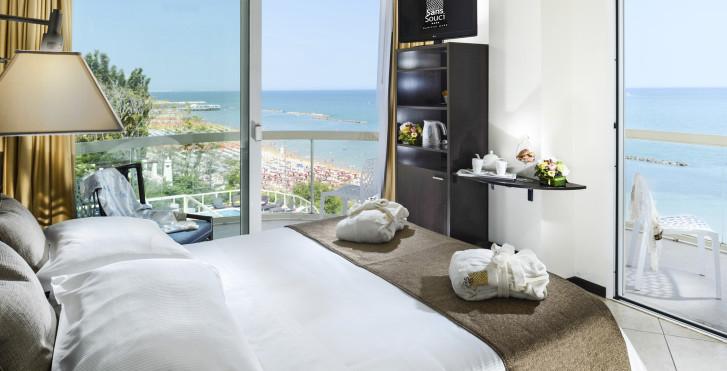 Doppelzimmer Turchese - Hotel Sans Souci