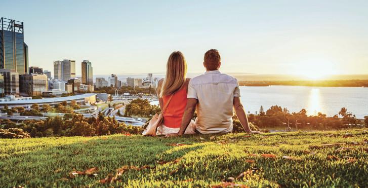 Ausblick auf Perth