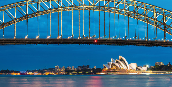 Harbour Bridge und Sydney Opera House
