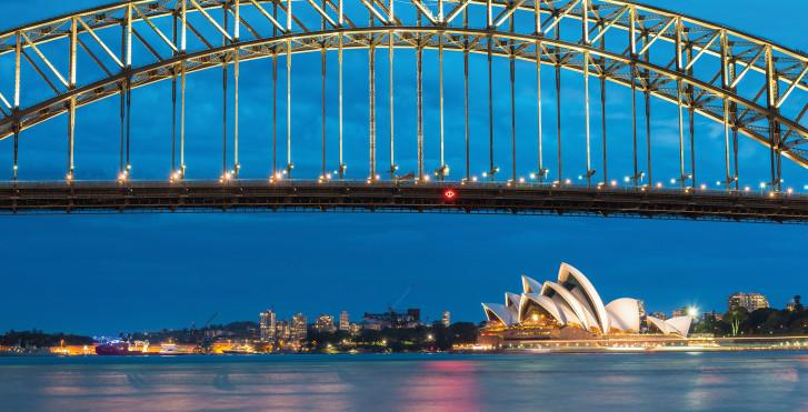 Harbour Bridge und Sydney Opera House