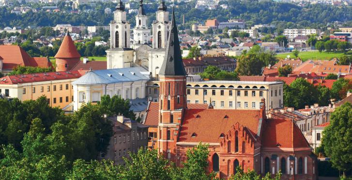 Jesuitenkirche und Vytautas Kirche in Kaunas - Litauen