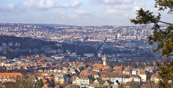 Stuttgart vue d'en haut