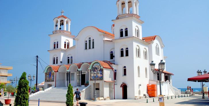 St. Fotini Kirche, Paralia, Olympische Riviera