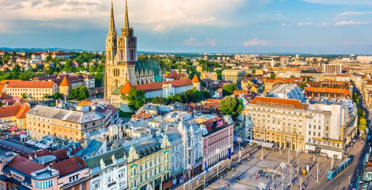 Vieille ville vue d'en haut, Zagreb