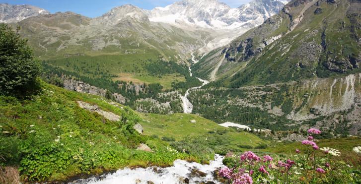 Die Landschaft von Zinal