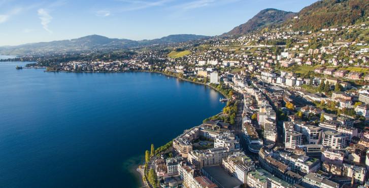 Vue sur la ville Montreux