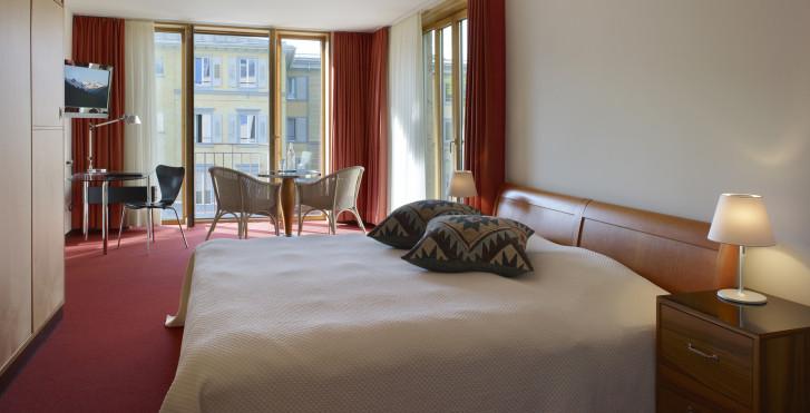 Chambre double - Hôtel Saratz - remontées inclus en été