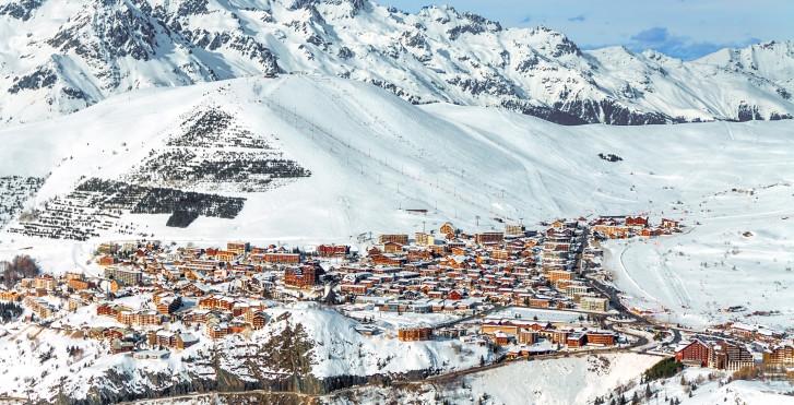 Blick auf Alpe d'Huez