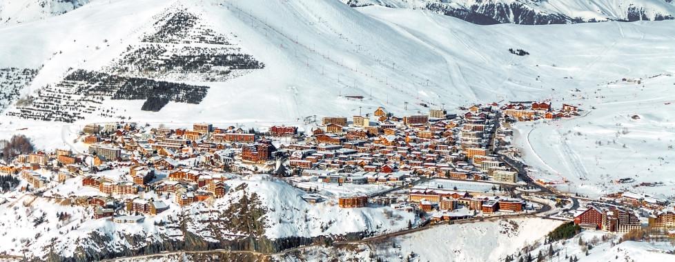 Vue sur Alpe d'Huez