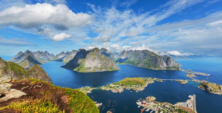 Lofoten-Inseln von oben