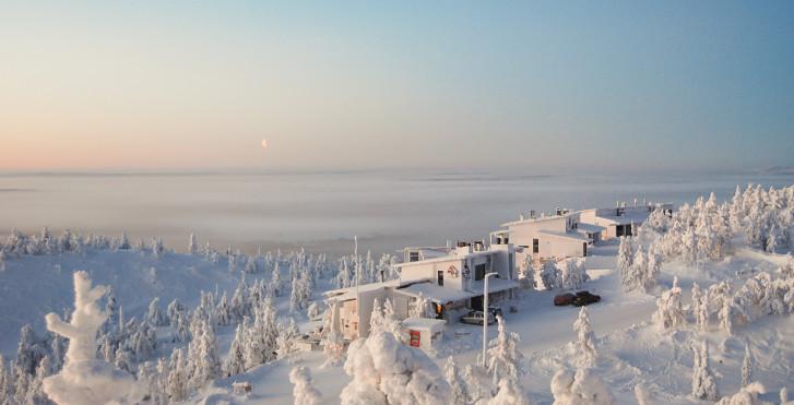 Winterlandschaft in Ruka / Kuusamo, Lappland