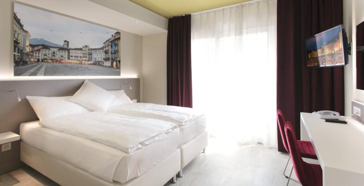 Chambre double Modern - Hôtel City Locarno
