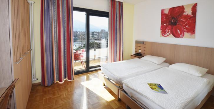Doppelzimmer Panorama - Hotel Geranio au Lac
