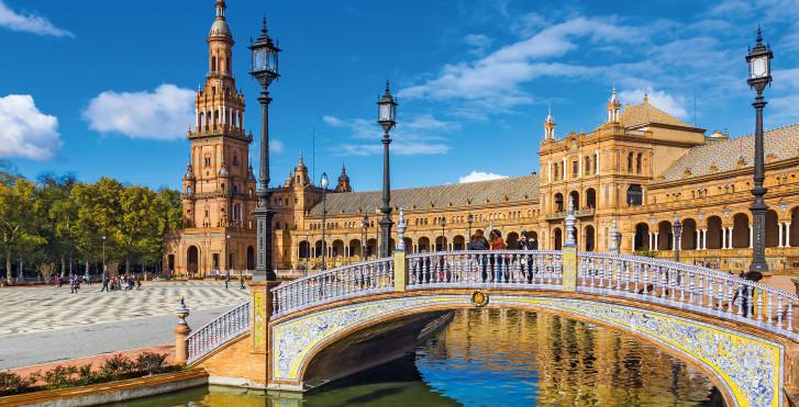 Séville: PlazadeEspana - Fly & Drive Andalousie