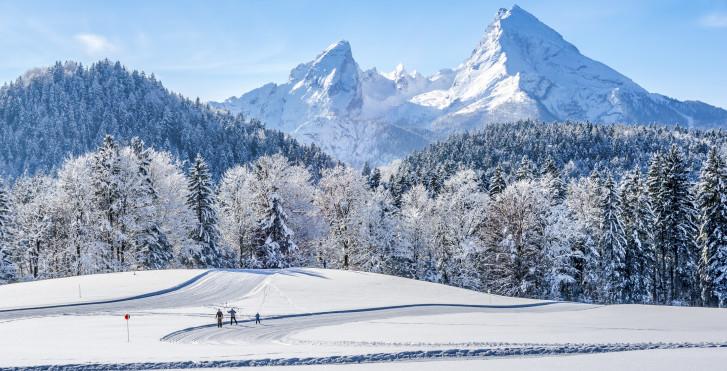 Skifahren im Neuschnee