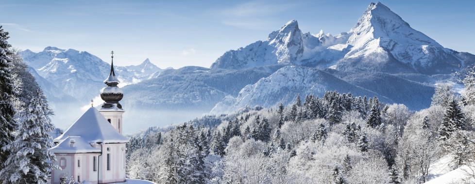 Paysage hivernal idyllique