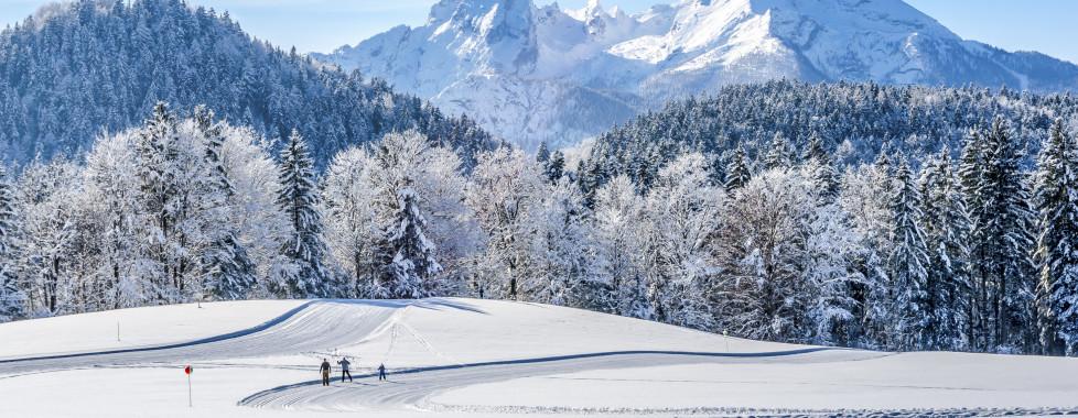 Skier dans la neige fraîche
