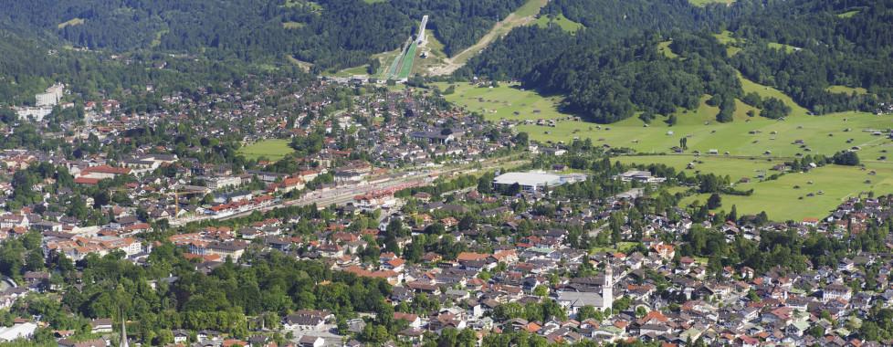 Vue sur Garmisch-Partenkirchen