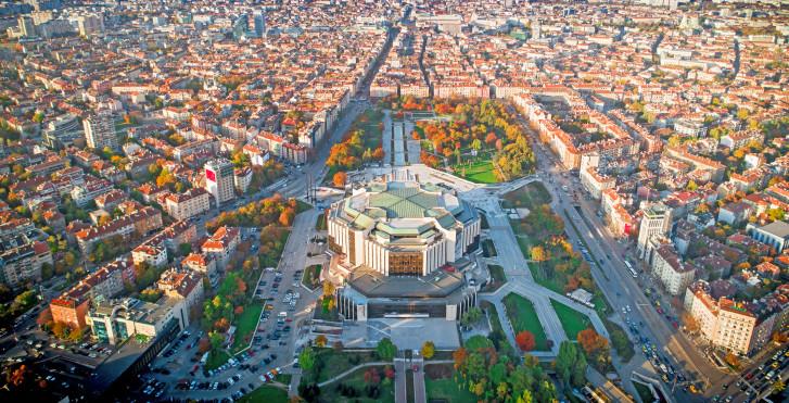 Palais national de la culture vue d'en haut, Sofia