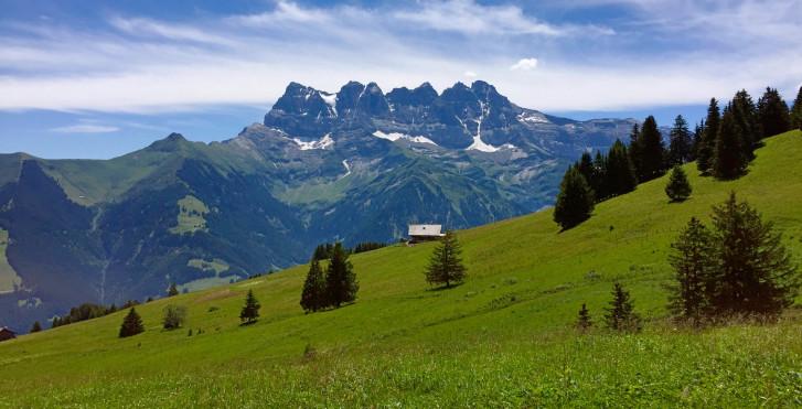 Dents du Midi Bergkette