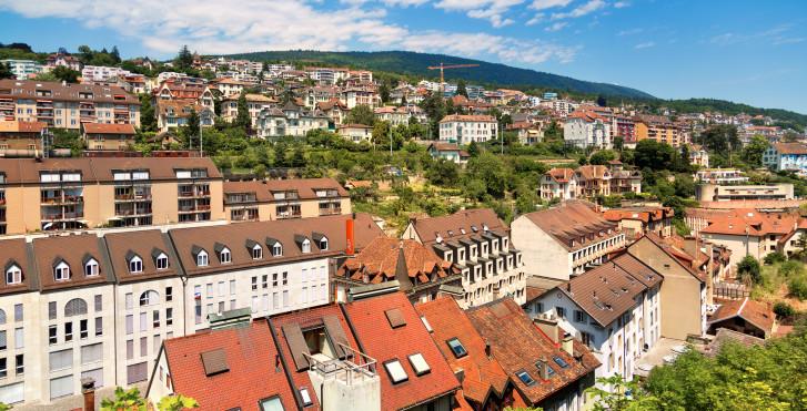 Neuchâtel vue d'en haut