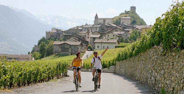 La Suisse à vélo: route du Rhône n° 1