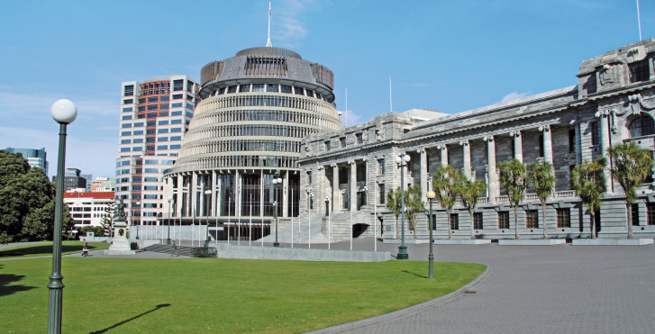 Beehive, parlament, Wellington