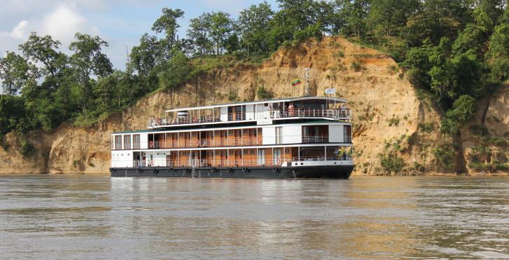Flusskreuzfahrt auf dem Irrawaddy in Myanmar