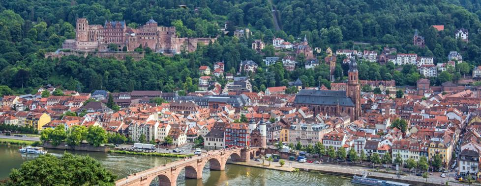 Aussicht auf die Stadt und das Schloss Heidelberg