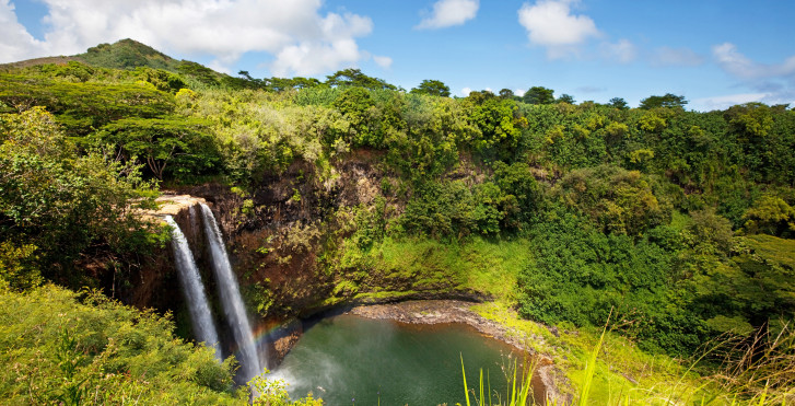 Wailua Falls auf Kauai