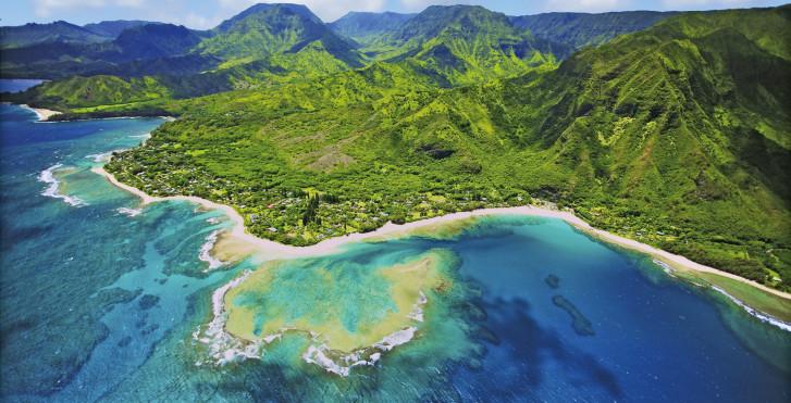 Île Kuai vue d'en haut