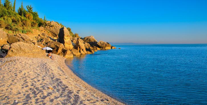 Strand Himare in Albanien