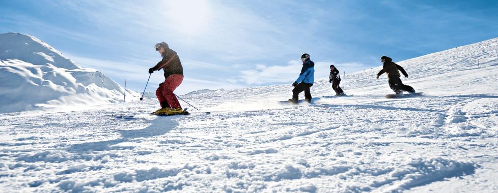 Sports d'hiver sur les pentes de Grächen