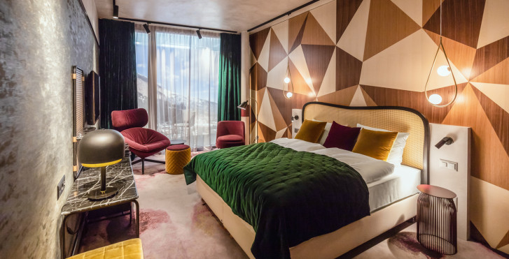 Doppelzimmer - The Hide Hotel Flims
