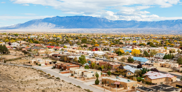 Photo aérienne, Albuquerque