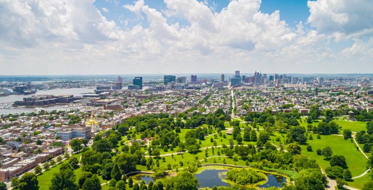 Photo aérienne, Baltimore