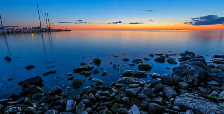 Sonnenuntergang, Lake Superior, Bayfield