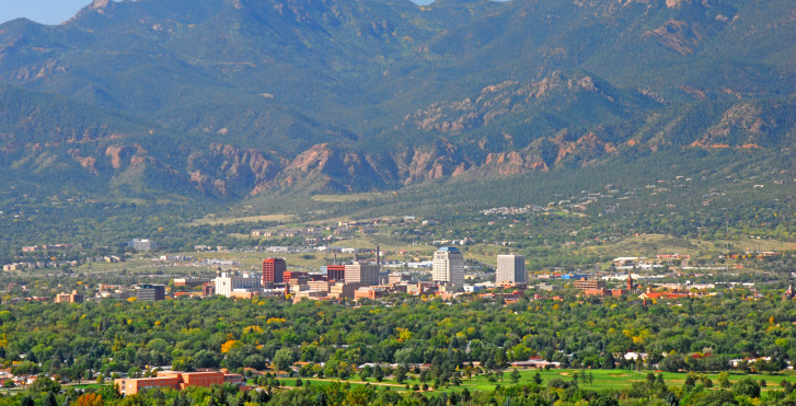 Vue d'en haut, Colorado Springs