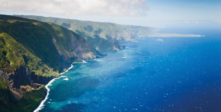 Photo aérienne, Molokai