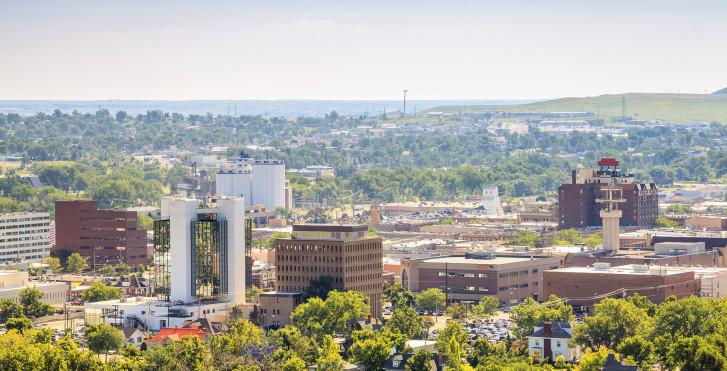 Luftaufnahme, Rapid City