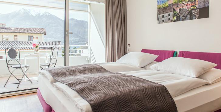 Doppelzimmer Seeseite - Smart-Hotel Minusio
