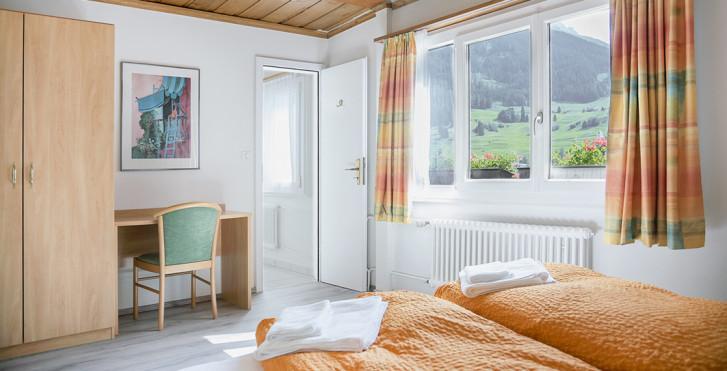 Chambre double - B&B La Tgamona - forfait ski