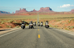 Route 66 avec motocycle