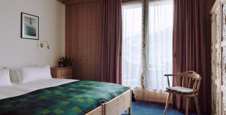 Chambre double - Hôtel Huldi - forfait ski