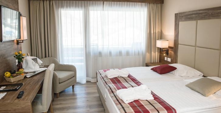 Chambre double - Hôtel Ambassador Zermatt - forfait ski