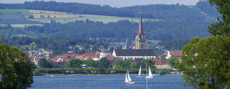 Blick vom Bodensee auf Radolfzell