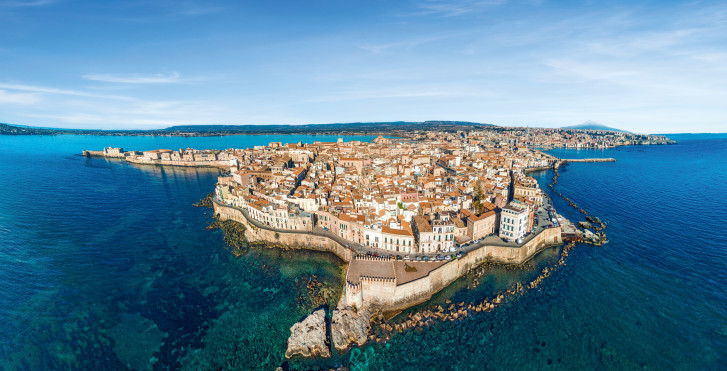 Altstadt von Siracusa auf der Insel Ortigia
