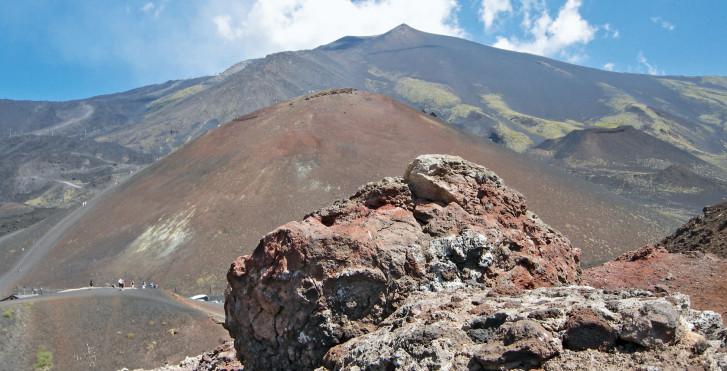 Paysage volcanique impressionnant sur l'Etna